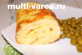 Пышный омлет с сыром в мультиварке