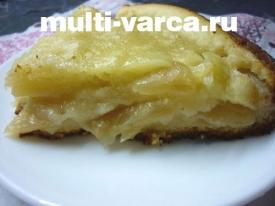 Яблочный пирог в мультиварке на кефире