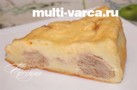 Пирог с фаршем в мультиварке
