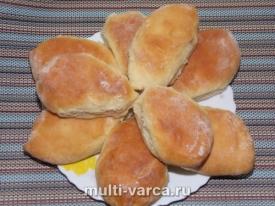 Пирожки с грушей в духовке из дрожжевого теста
