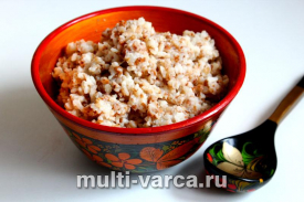 Рисово гречневая каша в мультиварке на молоке