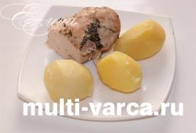 Куриное филе с картошкой в мультиварке Редмонд на пару