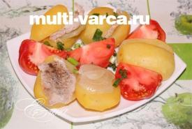 Картошка с свининой в мультиварке