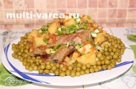 Свиные ребрышки с картошкой в мультиварке