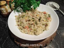 Как приготовить рис с овощами и индейкой в мультиварке