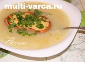 Луковый суп в мультиварке