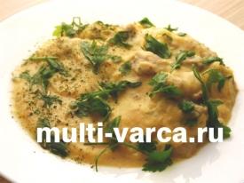 Сырный суп-пюре в мультиварке