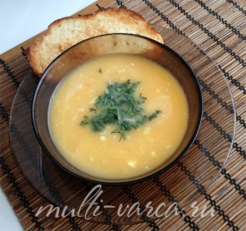 Крем суп из картофеля и тыквы в мультиварке
