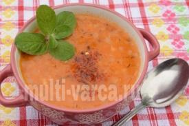 Турецкий суп с чечевицей в мультиварке
