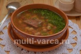 Фасолевый суп из утки в мультиварке