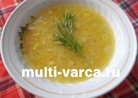 Чесночный суп с тыквой в мультиварке