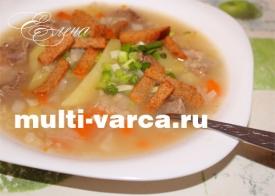 Суп с капустой и геркулесом в мультиварке