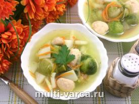 Суп из брюссельской капусты в мультиварке