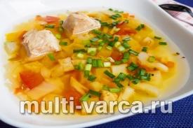 Сельдереевый суп с курицей в мультиварке