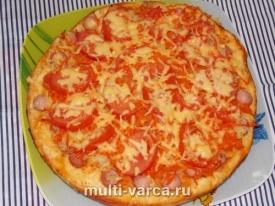 Домашняя сытная пицца в духовке на дрожжевом тесте