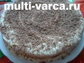 Бисквитный торт с масляным кремом в мультиварке