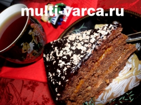 Шоколадный торт Захер в мультиварке