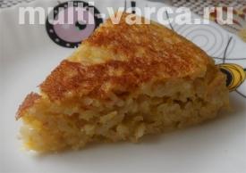 Запеканка из риса с тыквой в мультиварке