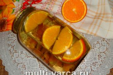 Компот из крыжовника с апельсином на зиму