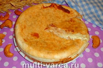 Пирог из лаваша с яблоками в мультиварке