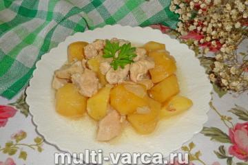 Картофель с куриным филе в мультиварке