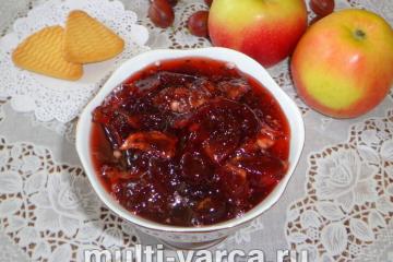 Варенье из крыжовника с яблоками на зиму