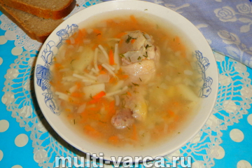Суп из куриных ножек в мультиварке