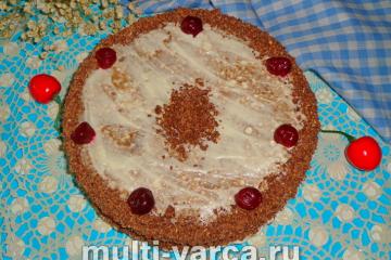 Торт с вишней в мультиварке