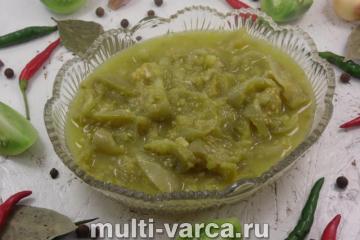 Салат из зеленых помидоров на зиму в мультиварке