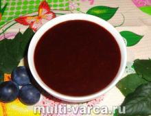 Сливовое варенье с какао