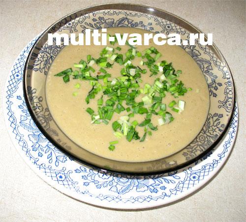 Крем-суп из шампиньонов со сливками в мультиварке редмонд 3