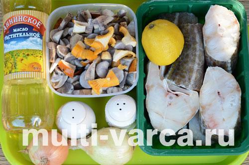 Как приготовить треску с грибами в мультиварке