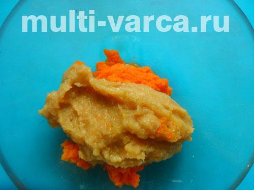 Морковно-яблочная запеканка в мультиварке
