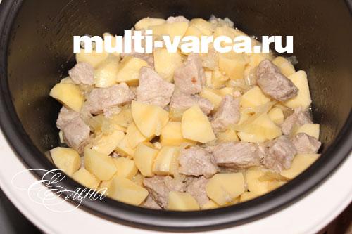 картофель в мультиварке со свининой