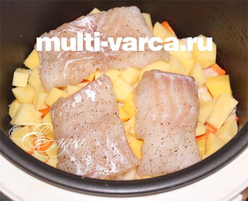 Как приготовить рыбу на пару с картофелем в мультиварке